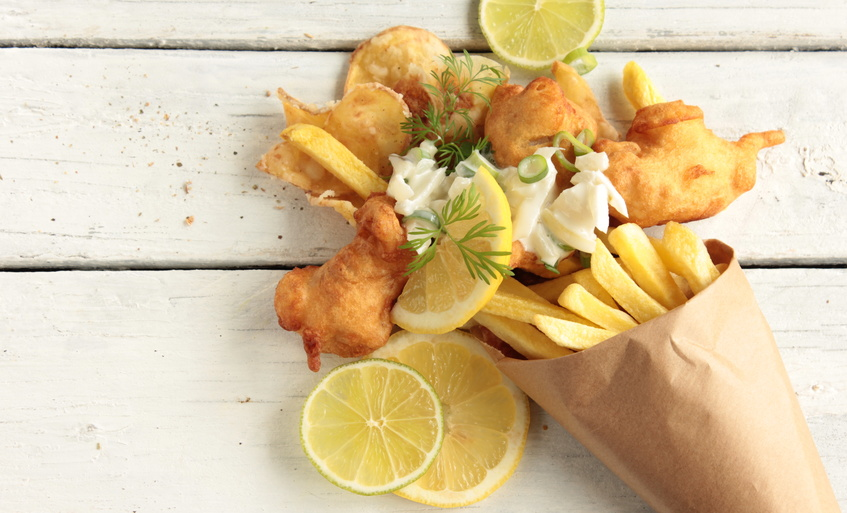 Fish & Chips med remoulade